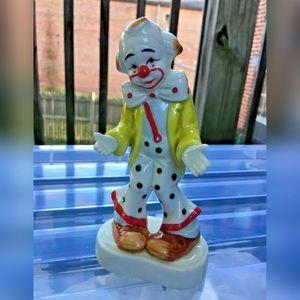 VINTAGE HomCo Porcelain Clown Figure Home Interior
